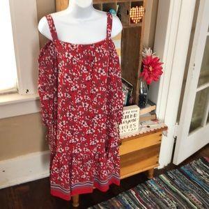 NWT BOHEMIAN DRESS 16, Loose fit, cold shoulder